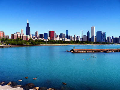 Chicago Skyline Poster by Mountain Dreams