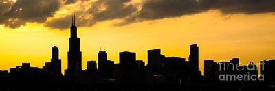 Chicago Skyline Panorama Sunset Photo Poster by Paul Velgos