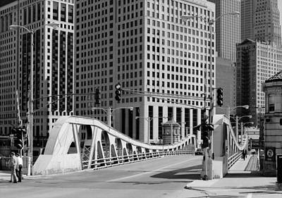Chicago's Bascule Bridge 1986 Poster by Mountain Dreams