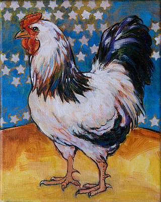 Chicken And Stars Poster by Tracie Thompson