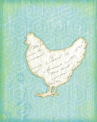 Chicken Poster by Jennifer Pugh
