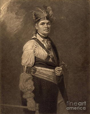 Chief Joseph Fayadaneega 1776 Poster by Padre Art