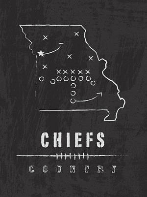 Chiefs Country 2 Poster by Damon Gray