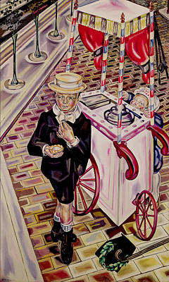 Child With An Ice Cream Oil On Canvas Poster by Maria Blanchard