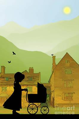 Childhood Dreams The Pram Poster by John Edwards