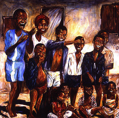 Children Gathering Poster by Cardell Walker