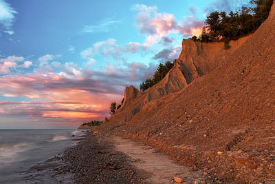 Chimney Bluffs 3 Poster by Mark Papke
