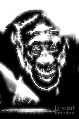 Chimpanzee Abstract Poster by Tom Gari Gallery-Three-Photography