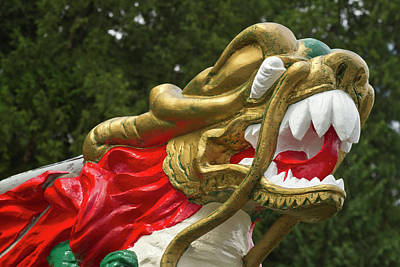 Chinese Dragonboat Figurehead, Stanley Poster by William Sutton