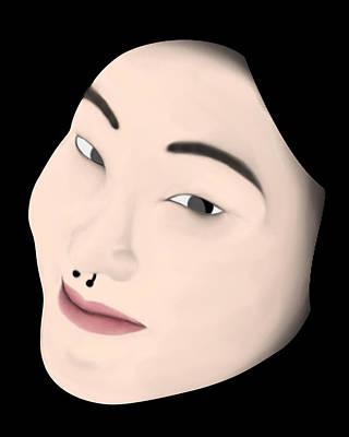 Chinese Girl Poster by Sara Ponte