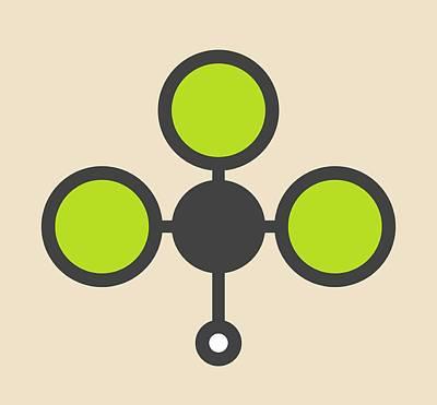 Chloroform Solvent Molecule Poster by Molekuul