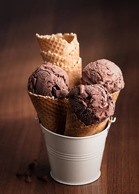 Chocolate Ice Cream Poster by Amanda And Christopher Elwell