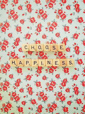 Choose Happiness Poster by Mable Tan