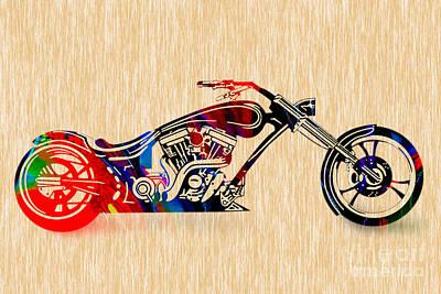 Chopper Art Poster by Marvin Blaine