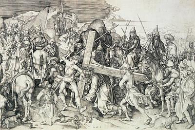 Christ Bearing His Cross Poster by Martin Schongauer