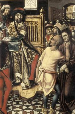 Christ Before Pilate. 1476 - 1500. A Poster by Everett