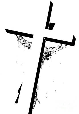 Christ On The Cross Poster by Justin Moore