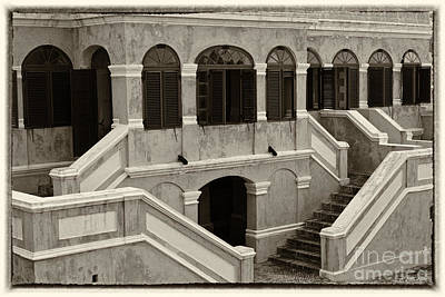 Christiansted National Historic Fort Sepia Poster by Iris Richardson