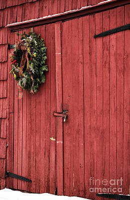 Christmas Barn Poster by John Rizzuto