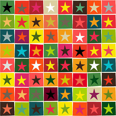 Christmas Boxed Stars Poster by Sharon Turner