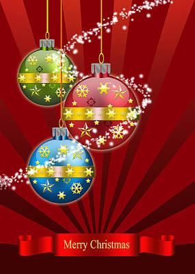 Christmas Card 3 Poster by Mark Ashkenazi