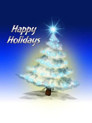 Christmas Card 4 Poster by Mark Ashkenazi