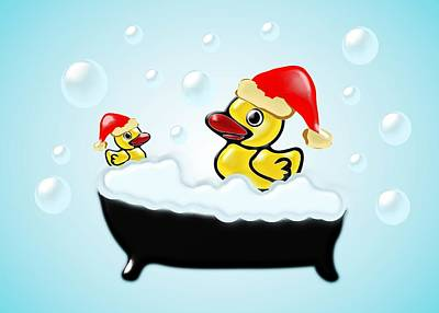 Christmas Ducks Poster by Anastasiya Malakhova