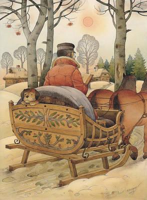 Christmas Eve Poster by Kestutis Kasparavicius