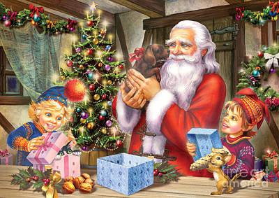 Christmas Eve Poster by Zorina Baldescu