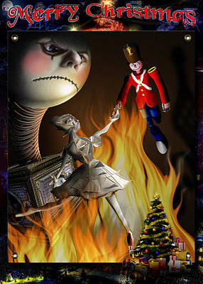 Christmas Greeting Card IIi Poster by Alessandro Della Pietra