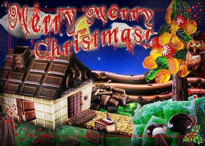 Christmas Greeting Card Iv Poster by Alessandro Della Pietra