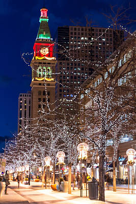 Christmas In Denver Colorado Poster by Teri Virbickis