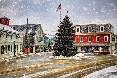 Christmas In Kennebunkport Poster by Brenda Giasson