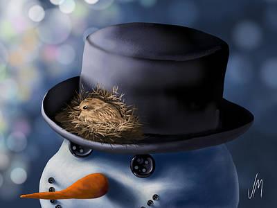 Christmas Nest Poster by Veronica Minozzi