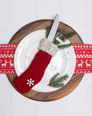 Christmas Place Setting Poster by Amanda Elwell