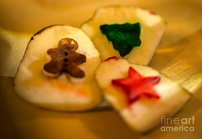 Christmas Potato Stamps Poster by Iris Richardson