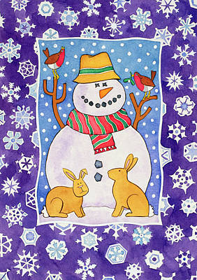 Christmas Snowflakes Poster by Cathy Baxter