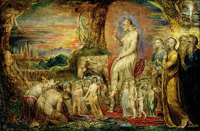 Christs Entry Into Jerusalem Poster by William Blake