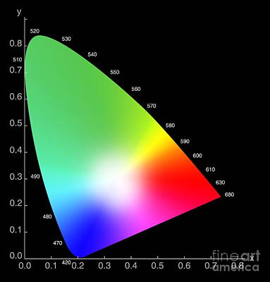 Chromaticity Diagram Poster by Spl