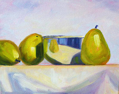 Chrome And Pears Poster by Nancy Merkle