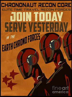 Chrononaut Core Poster by Cinema Photography