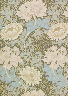 Chrysanthemums Poster by William Morris