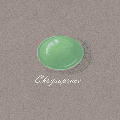 Chrysoprase Cabochon Poster by Marie Esther NC