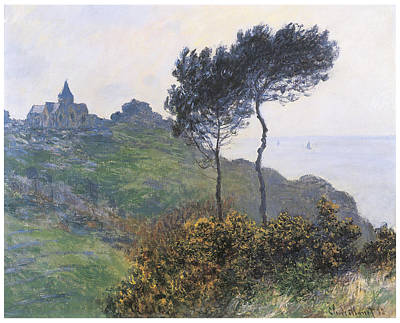 Church At Varengeville Poster by Claude Monet