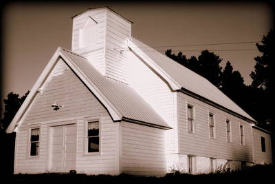 Church Building Poster by Kerri Huven