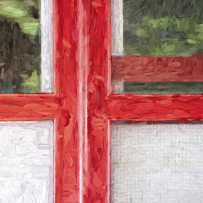 Church Camp House Detail Painterly Series 11 Poster by Carol Leigh
