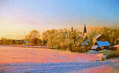 Church In Winter 2 Poster by Yury Malkov