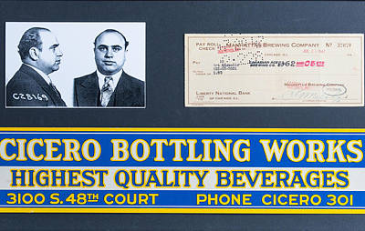 Cicero Bottling Works Chicago Brewing Poster by Kurt Olson
