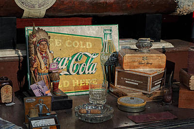 Cigar Store Window Poster by Michael Porchik
