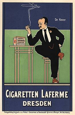 Cigaretten Laferme Dresden Poster by Gianfranco Weiss